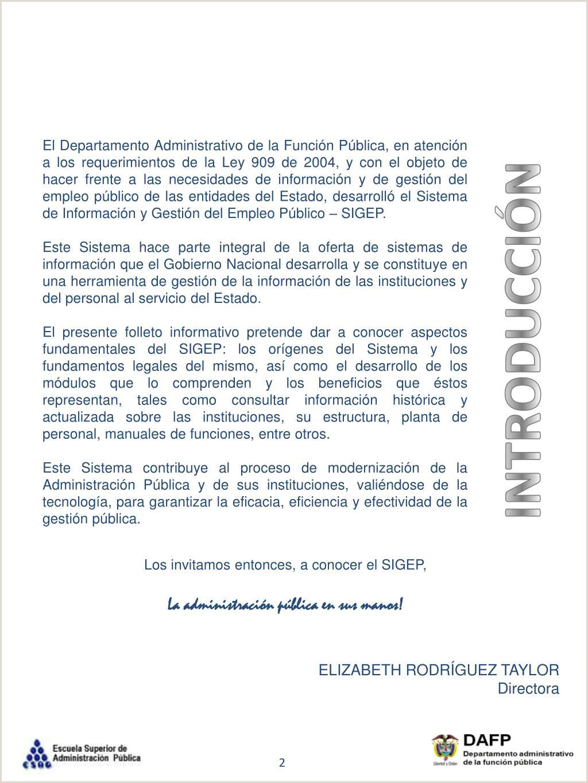 """Formato Hoja De Vida De La Funcion Publica Sigep Ppt Sistema De Informaci""""n Y Gesti""""n Del Empleo Pšblico"""