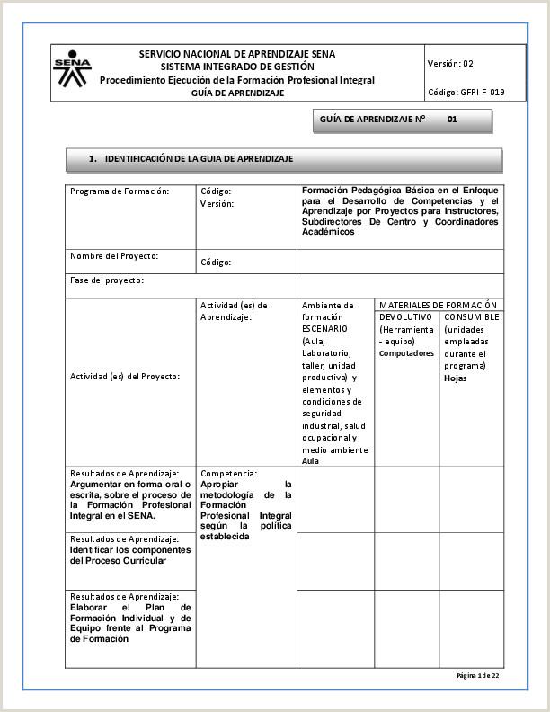 Formato Hoja De Vida Del Sena Pdf Servicio Nacional De Aprendizaje Sena Sistema Integrado