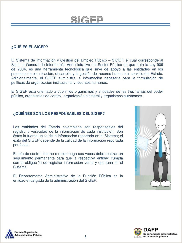 """Formato Hoja De Vida Del Sigep Ppt Sistema De Informaci""""n Y Gesti""""n Del Empleo Pšblico"""