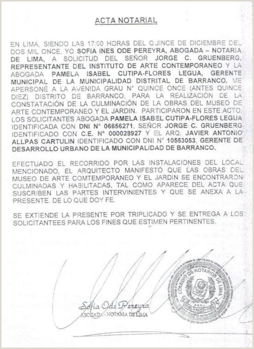 MODELO DE ACTA NOTARIAL EN PERš