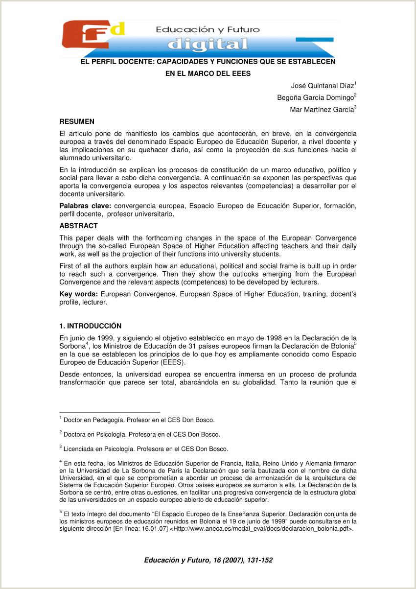 PDF El perfil docente capacidades y funciones que se