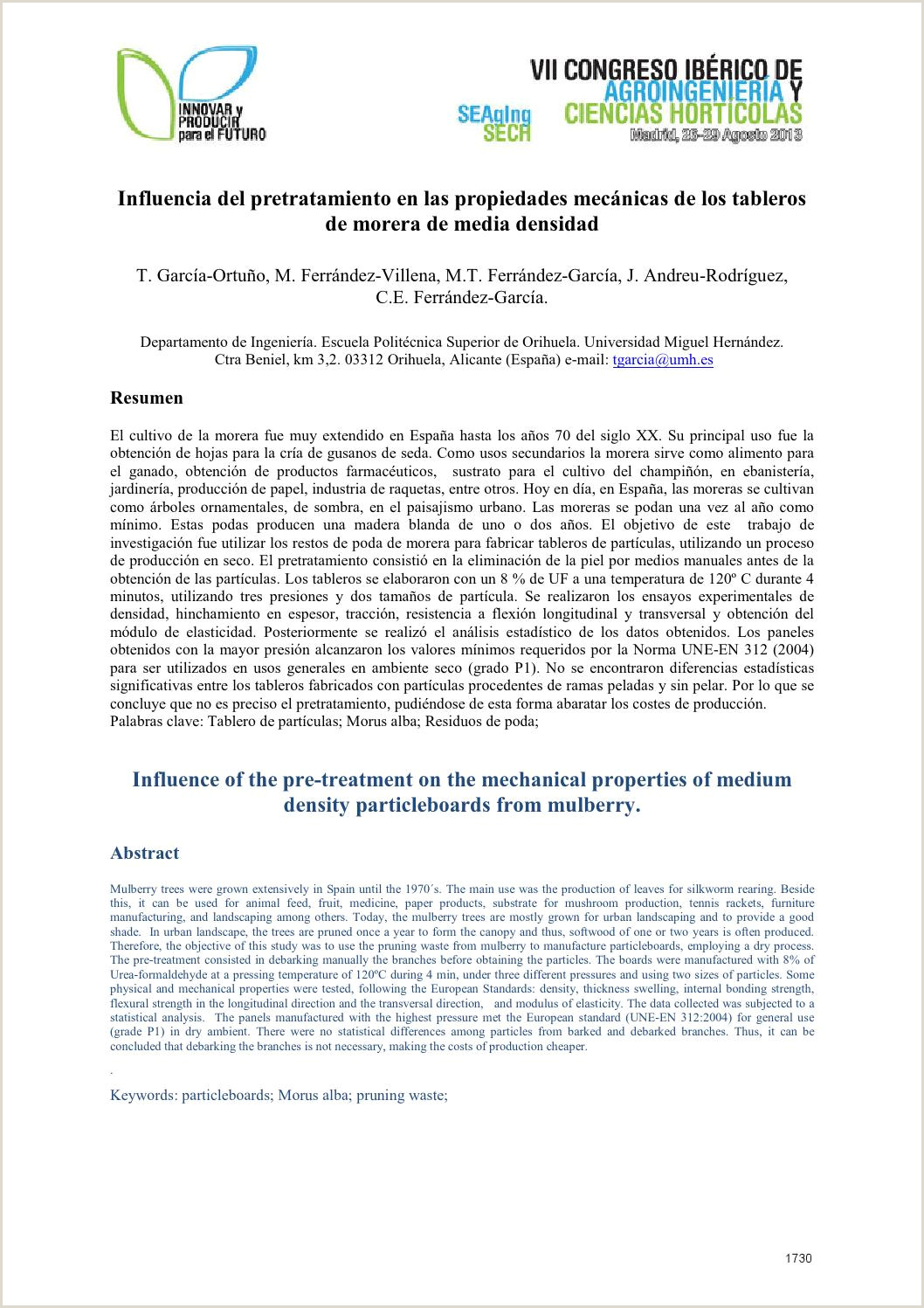 Formato Hoja De Vida En Colombia Libro Actas Vii Congreso Ibérico Agroingeniera Y Ciencias