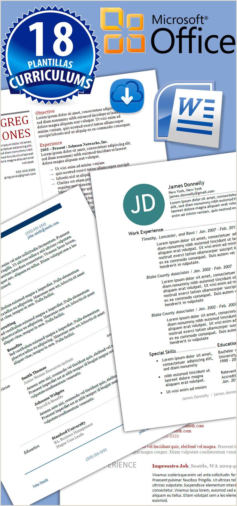 Formato Hoja De Vida En Word 18 Plantillas Editables Curriculums formato Word