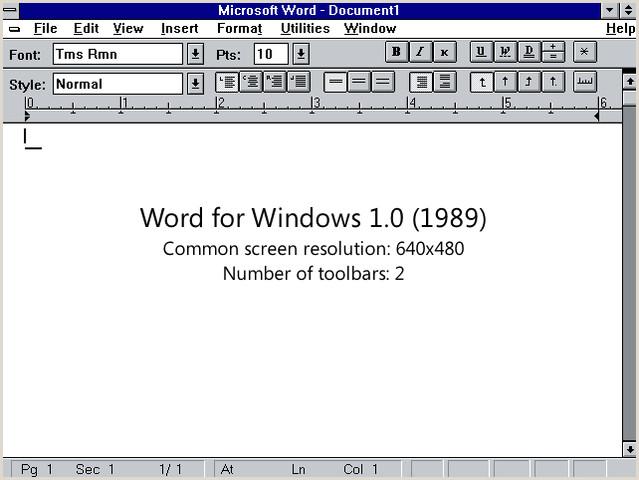 Cronologa de las versiones de microsoft word para windows
