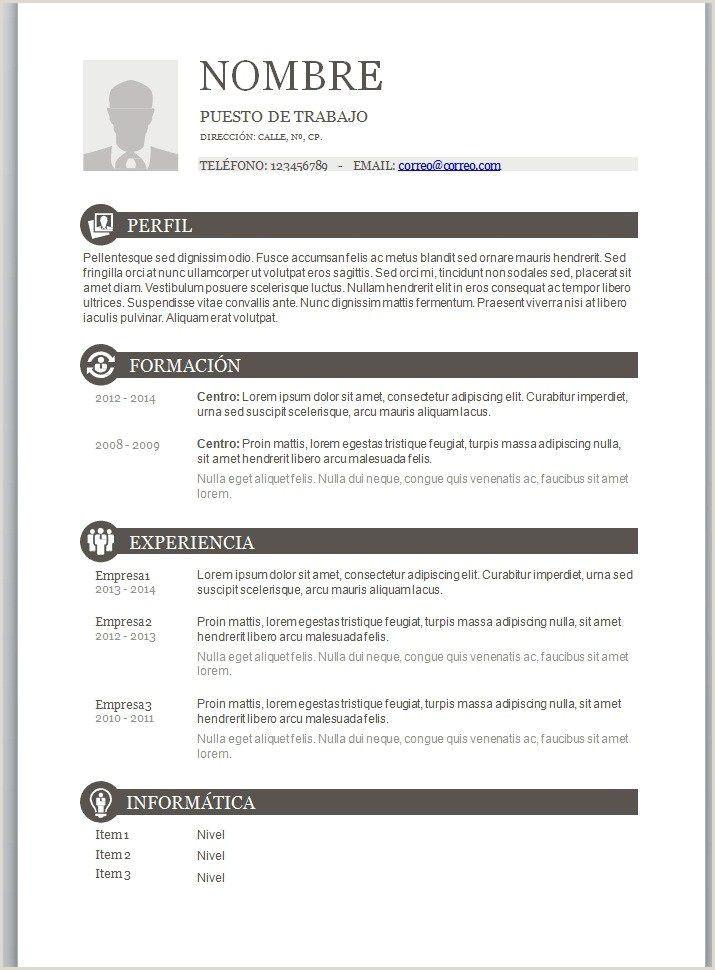 Modelo En Word De Curriculum Vitae Currculum