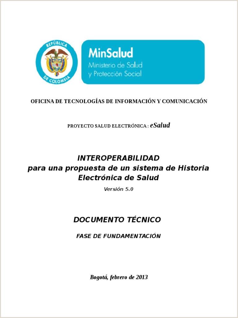 interoperabilidad proyecto esalud pdf