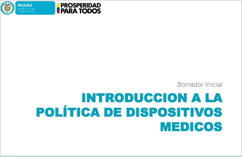 TALLER DE POLTICA DE DISPOSITIVOS MéDICOS PDF