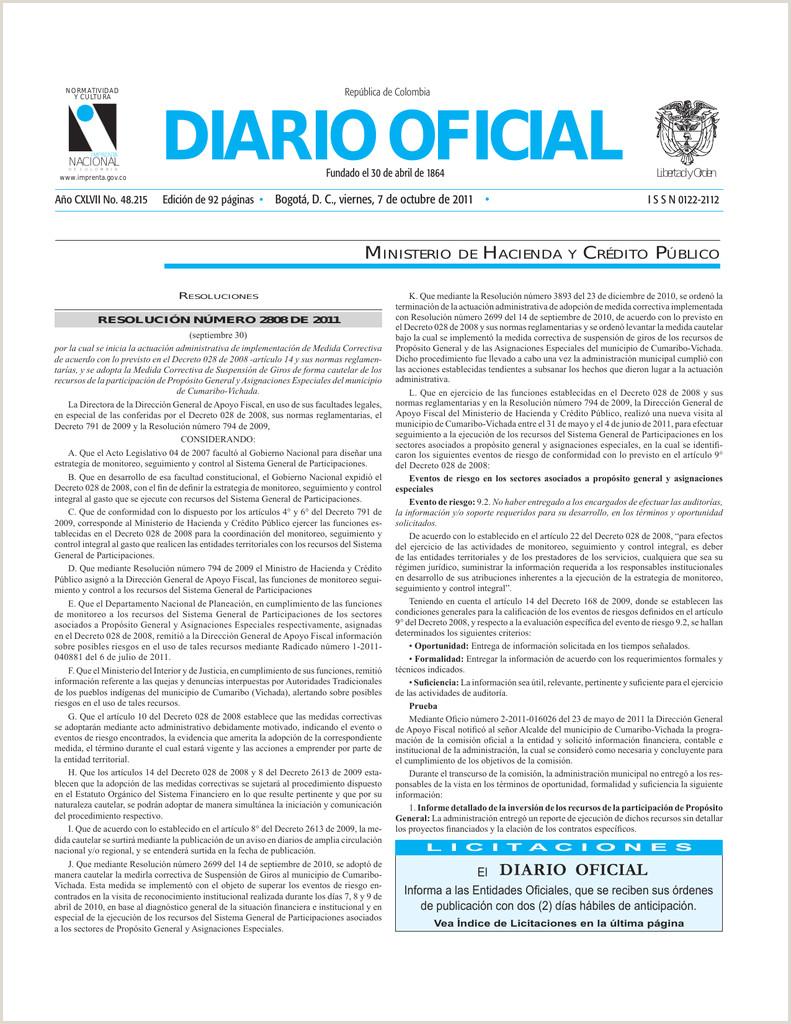 diario oficial Imprenta Nacional de Colombia
