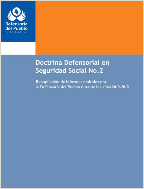 doctrina defensorial en seguridad social Defensorƒa del Pueblo