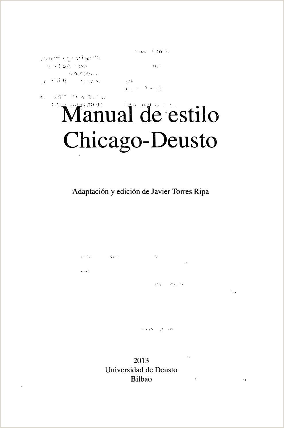 Formato Hoja De Vida Filetype Doc Manual De Estilo Chicago Deusto by Alecs Bass issuu