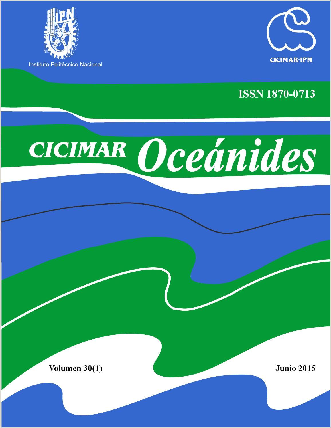 CICIMAR Oceánides Vol 30 1 2015 by CICIMAR Oceánides issuu