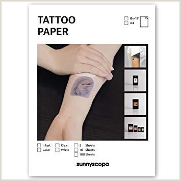 Papel de inyecci³n de tinta para tatuajes de Sunnyscopa pack de 5 hojas en formato A4