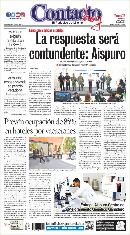 Formato Hoja De Vida Funcion Publica 2019 Peri³dico Contacto Hoy Del 12 De Julio Del 2019 by Contacto