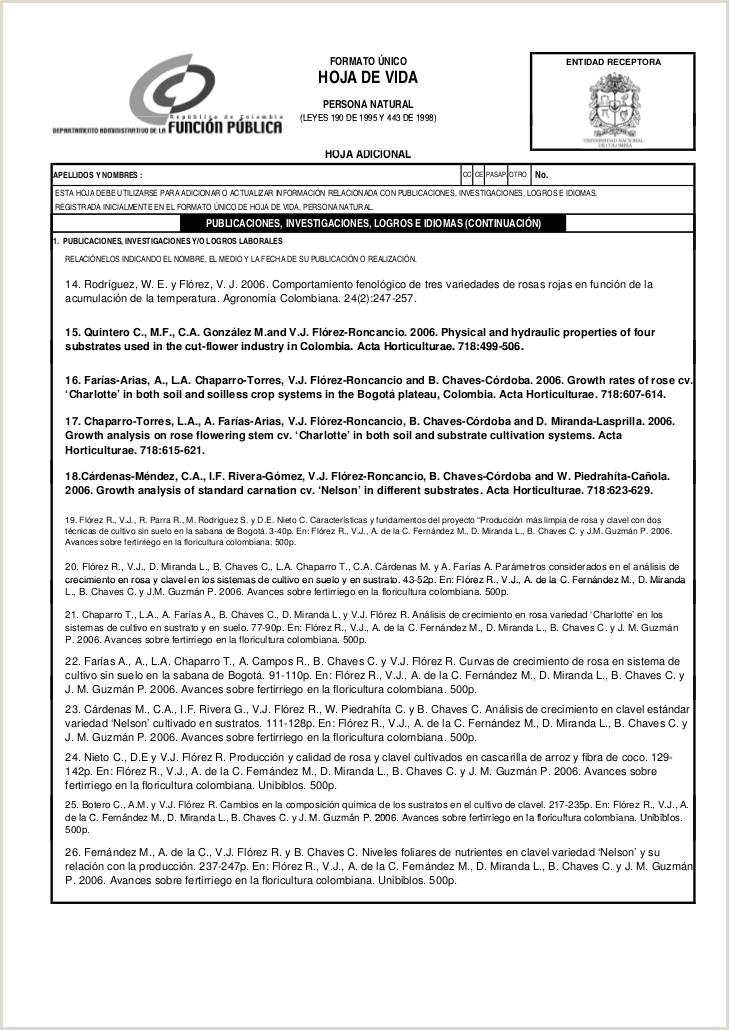 Formato Hoja De Vida Funcion Publica Editable Hoja De Vida Vctor Fl³rez