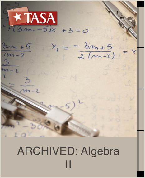 ARCHIVED Algebra II Curso gratuito de TASA Texas Association of School Administrators en iTunes U