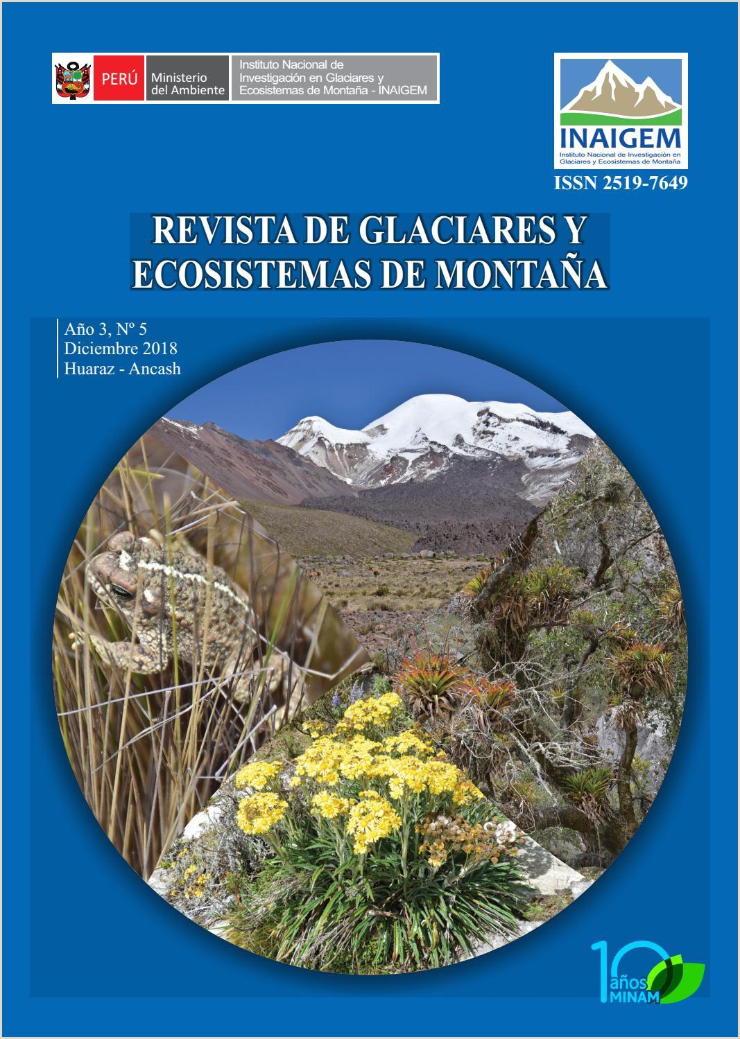 Revista de Glaciares y Ecosistemas de Monta±a by INAIGEM issuu