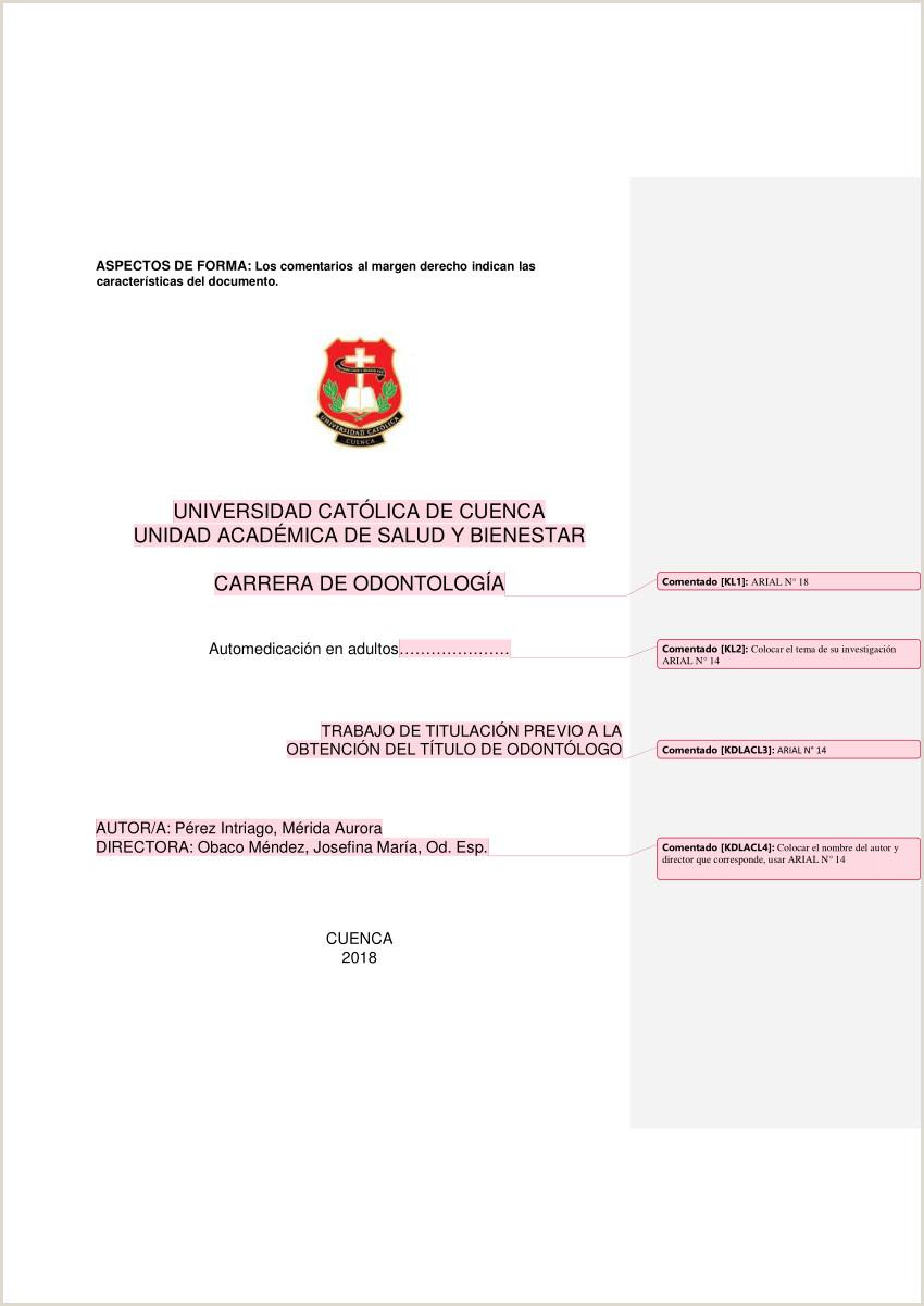 PDF ASPECTOS DE FORMA Formato del trabajo final de