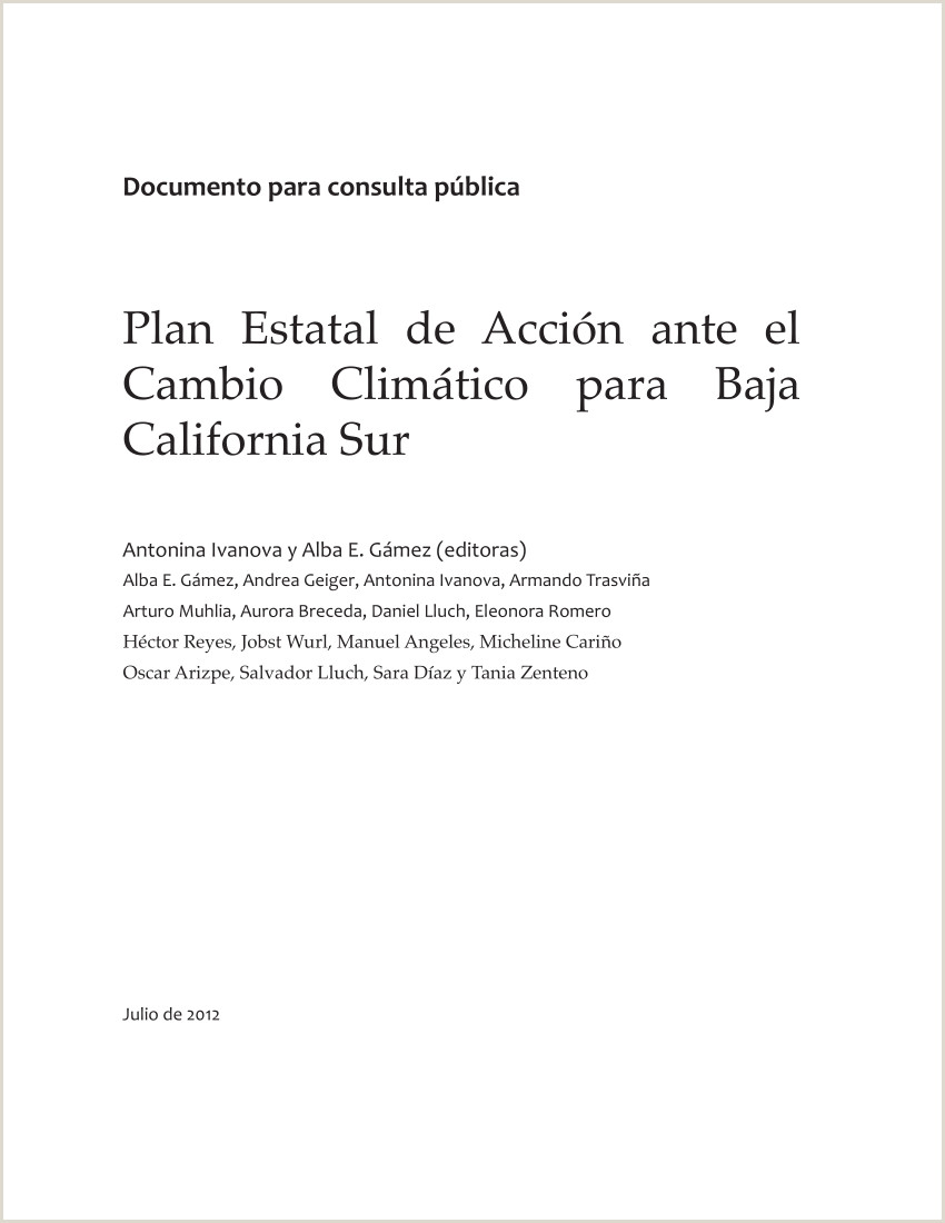 Formato Hoja De Vida Giz Pdf Plan Estatal De Acci³n Ante El Cambio Climático Para