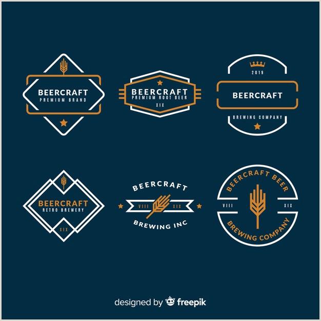 Set de etiquetas de cerveza