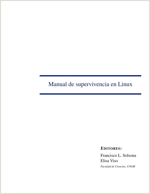 Manual de supervivencia en Linux mmc UNAM