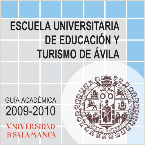 Gua Académica 2009 2010 Escuela Universitaria de Educaci³n