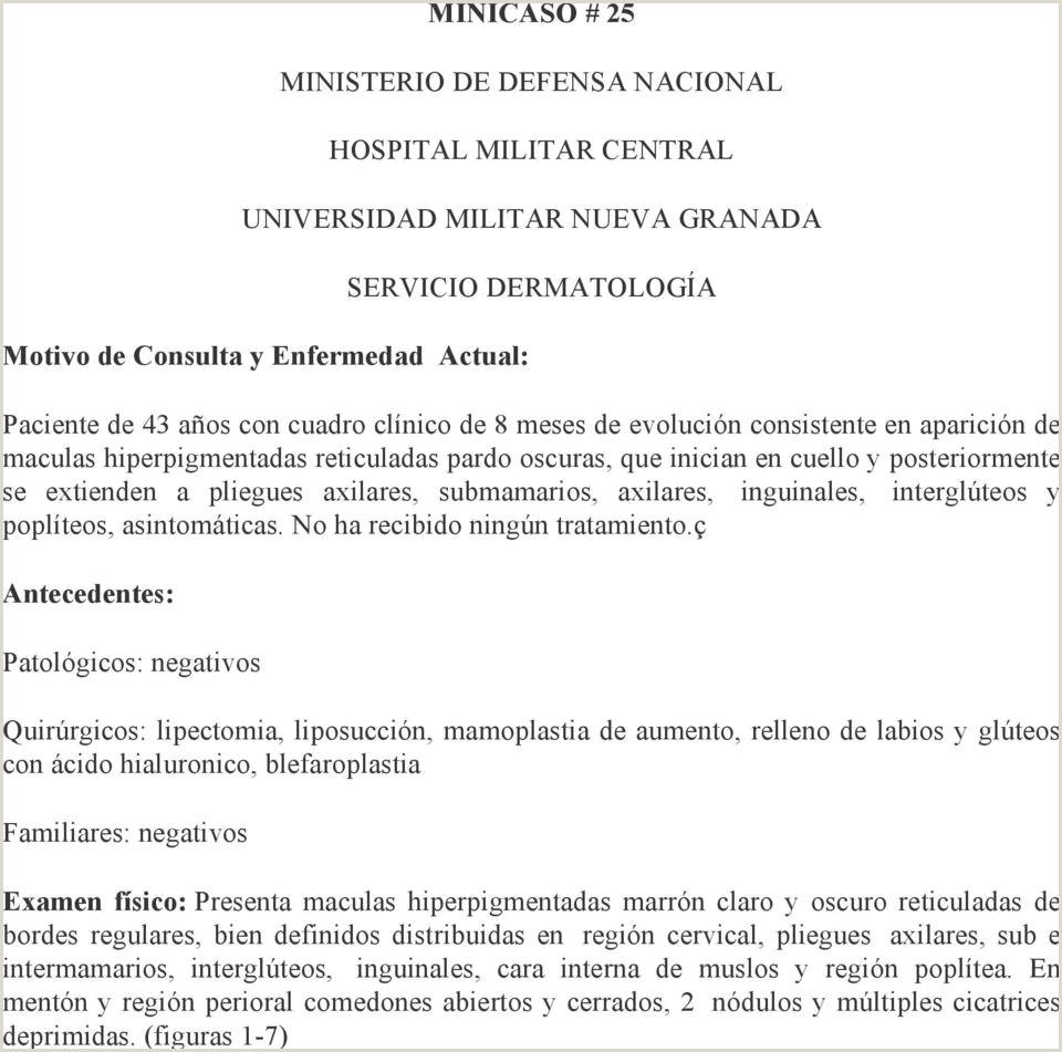 MINICASO 25 MINISTERIO DE DEFENSA NACIONAL HOSPITAL