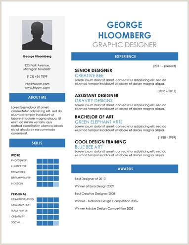 Formato Hoja De Vida Illustrator 19 Plantillas De Cv Gratis Para Google Doc Download