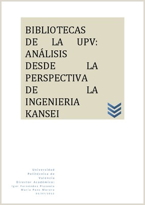 BIBLIOTECAS DE LA UPV ANLISIS DESDE LA PERSPECTIVA DE LA
