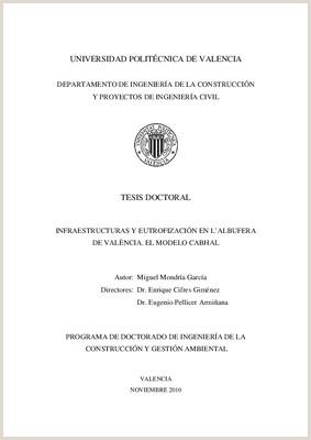 Formato Hoja De Vida Ingeniero Mecanico Universidad Politécnica De Valencia Tesis Doctoral