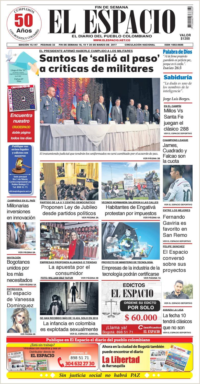 DIARIO EL ESPACIO by DIARIO EL ESPACIO issuu