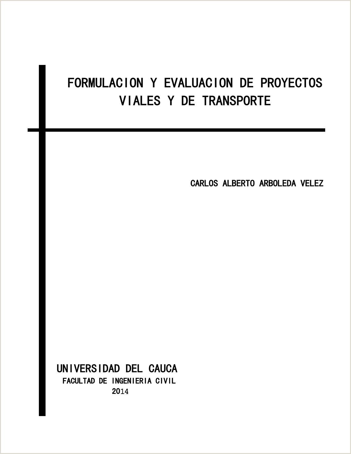 Formato Hoja De Vida Invias formulacion Y Evaluacion De Proyectos Viales Y De Transporte