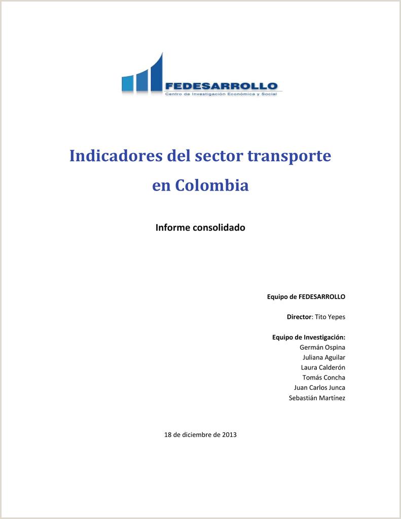 Indicadores del sector transporte en Colombia