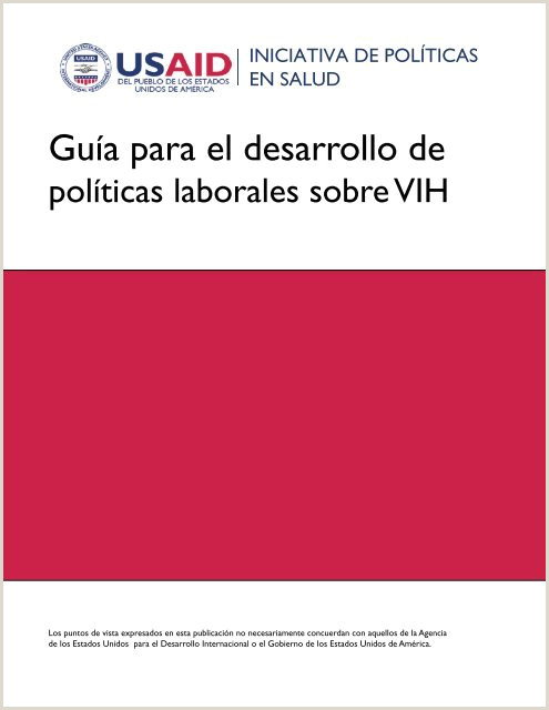 Guƒa para el desarrollo de Health Policy Initiative