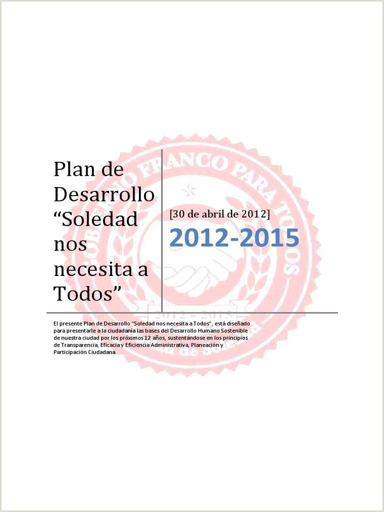 Plan Desarrollo Soledad 2012 2015