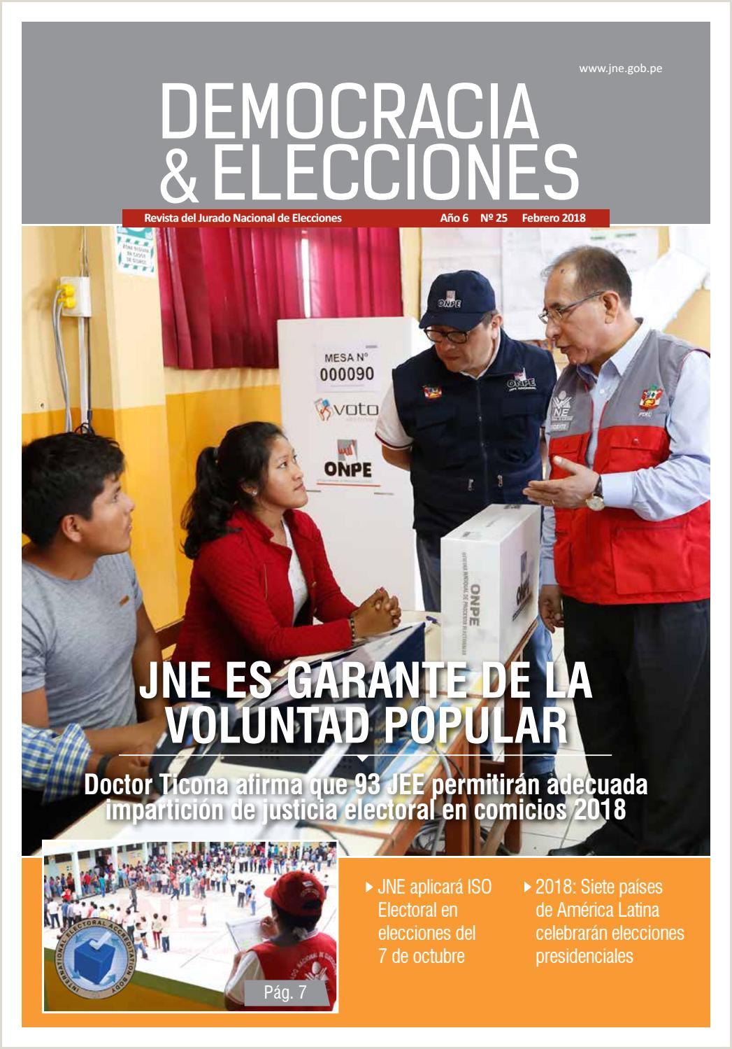 Formato Hoja De Vida Jne 2018 Descargar Democracia & Elecciones N° 25 by Jurado Nacional De