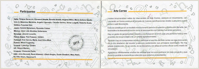 INSOMNIES ET ART POSTAL RECU DE ROSA GRAVINO ARGENTINE