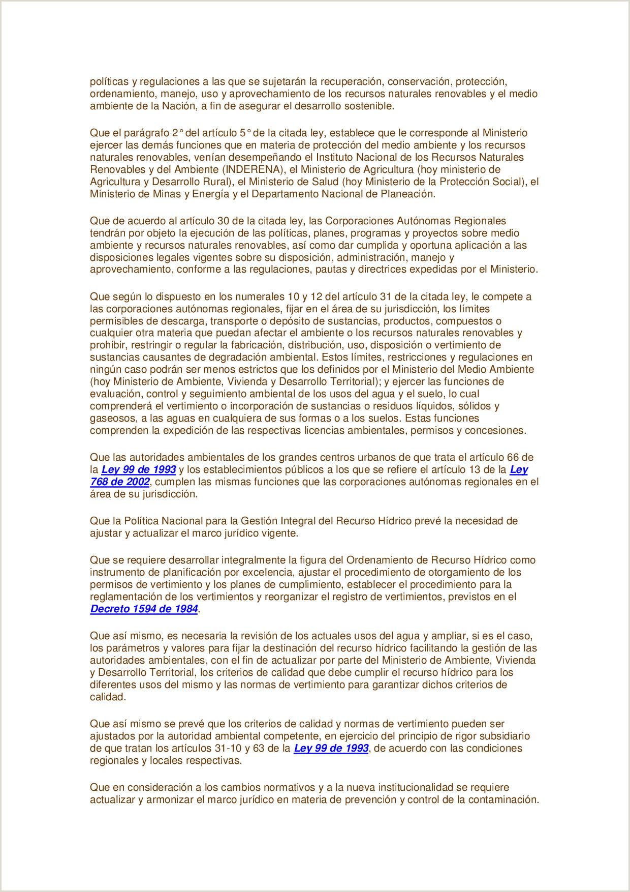 Decreto 3930 de la Constituci³n colombiana Docsity
