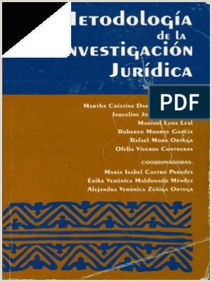 Metodologa de La Investigaci³n Jurdica