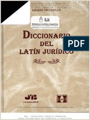 Formato Hoja De Vida Juridica Nicoliello Nelson Diccionario Del Latn Jurdico