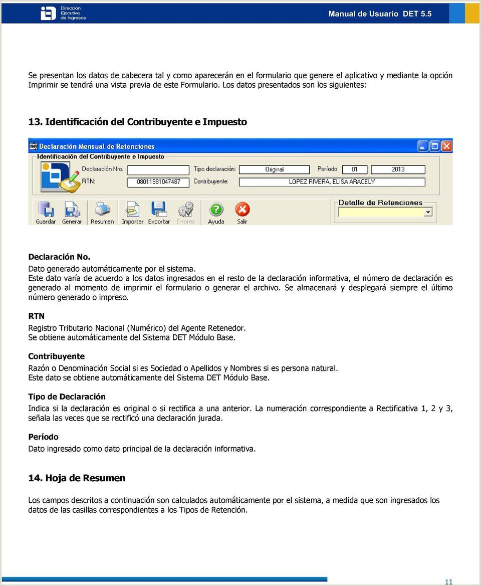 M³dulo D M R Declaraci³n Mensual de Retenciones Versi³n 1 PDF