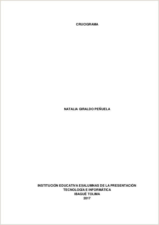 Crucigrama Natalia