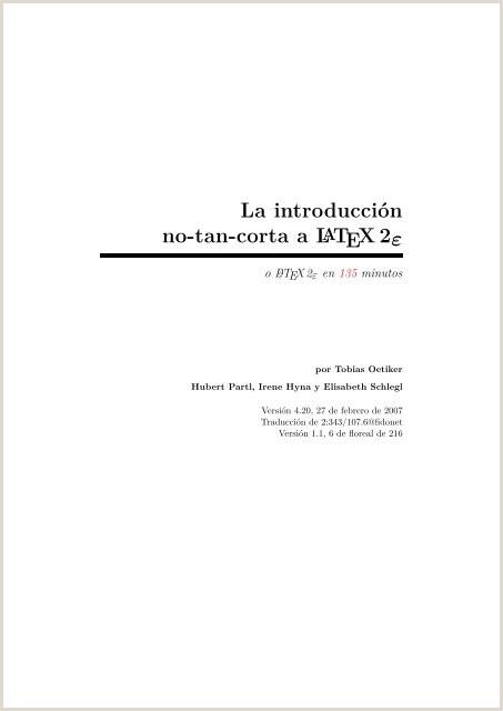 introducci³n no tan corta a LATEX