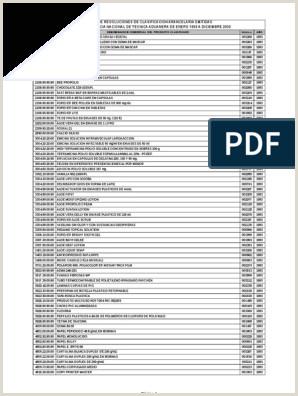 Indice De Resoluciones De Clasificacion Arancelaria Emitidas