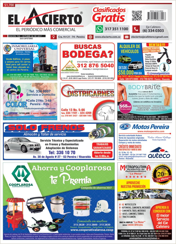 Pereira 758 6 de octubre 2017 by El Acierto issuu