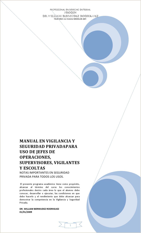 MANUAL DE VIGILANCIA Y SEGURIDAD PRIVADA by WILLIAM BERMUDEZ