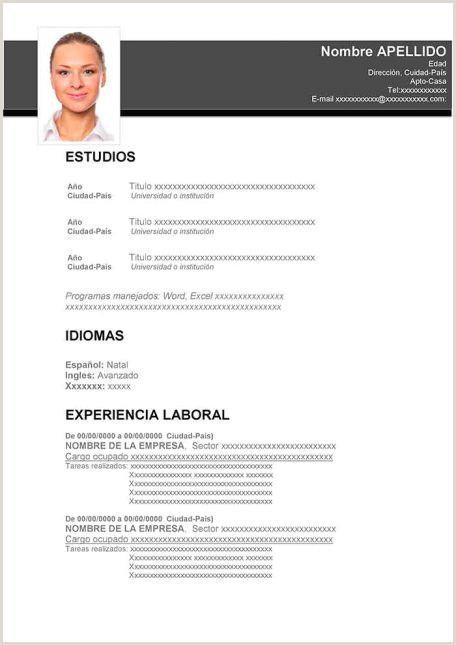 Formato Hoja De Vida No Profesionales Ejemplos De Hoja De Vida Modernos En Word Para Descargar