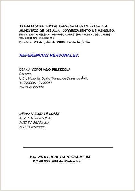 Hoja De Vida Malvina Barbosa $ Tokoonlineindonesia