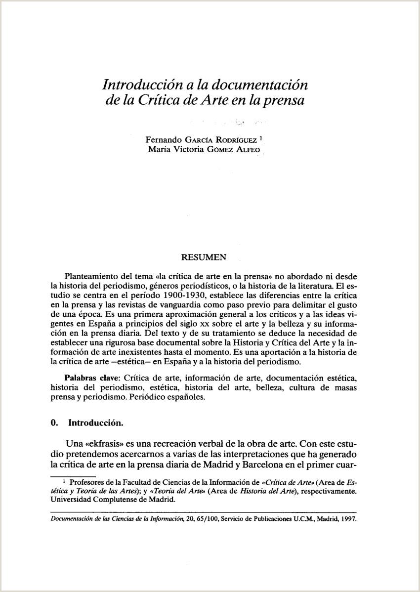 PDF Introducci³n a la documentaci³n de la Crtica de Arte
