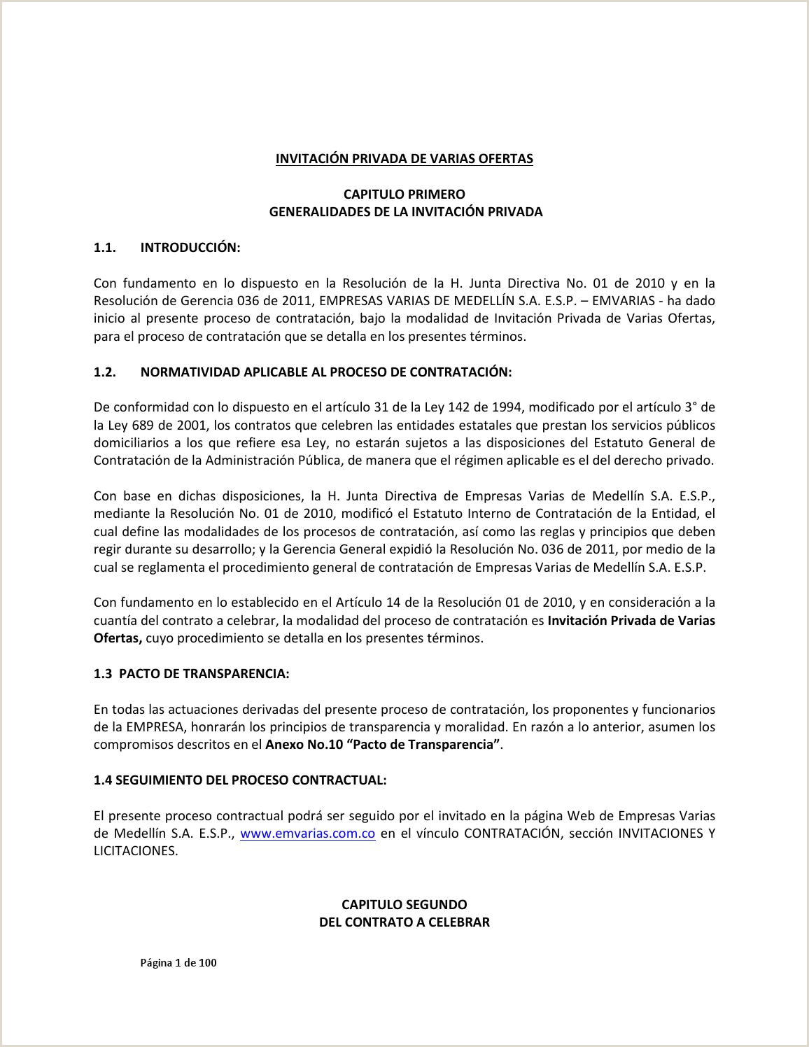 Invitacion privada varias ofertas sistema electrico 2013