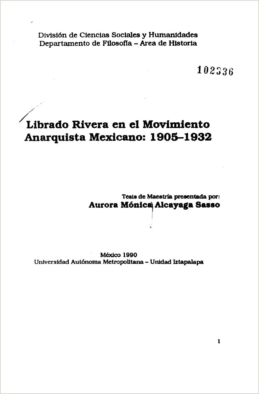 LIBRADO RIVERA EN EL MOVIMIENTO ANARQUISTA MEXICANO 1905